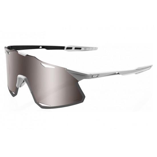 100% Hypercraft Gafas, matte stone grey/hiper silver mirror lens