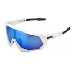 100% Speedtrap Matte white hiper blue multilayer