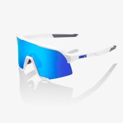 100% S3 Matte White HiPER® Blue Multilayer Mirror Lens
