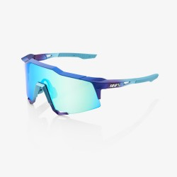 100% Speedcraft Matte Metallic Into the Fade Blue Topaz Multilayer mirror lens