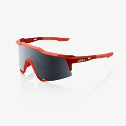 100% speedcraft LL Soft Tact Coral black mirror lens