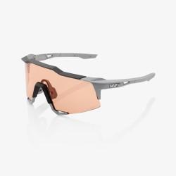 100% speedcraft LL Soft Tact Stone Grey Hiper Coral Lens