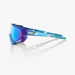 100% Speedtrap Matte Metallic Into the Fade Blue Topaz Multilayer mirror lens