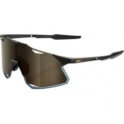 100% Hypercraft Gafas, matte black/gold mirror